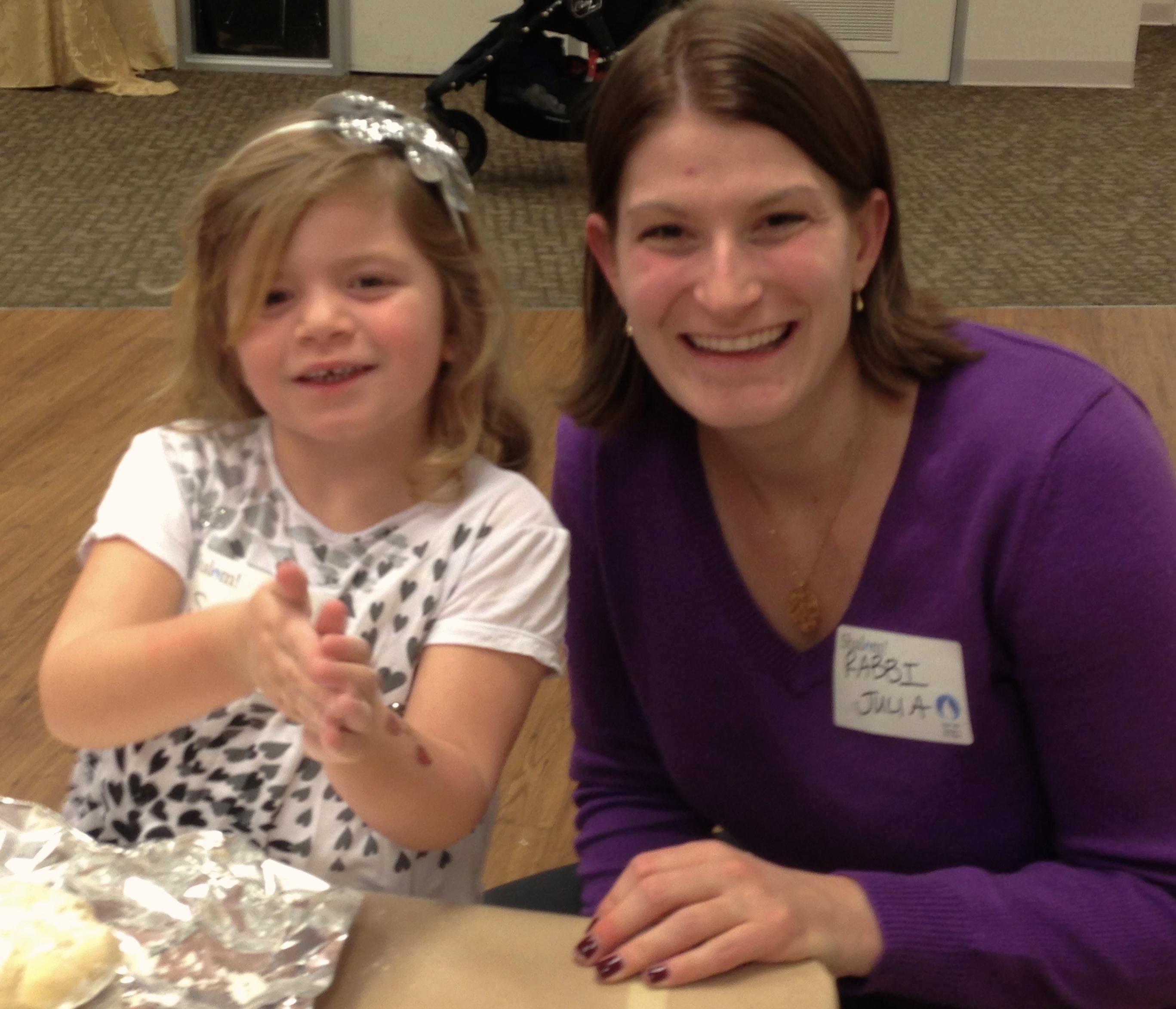 Rabbi Julia and little girl