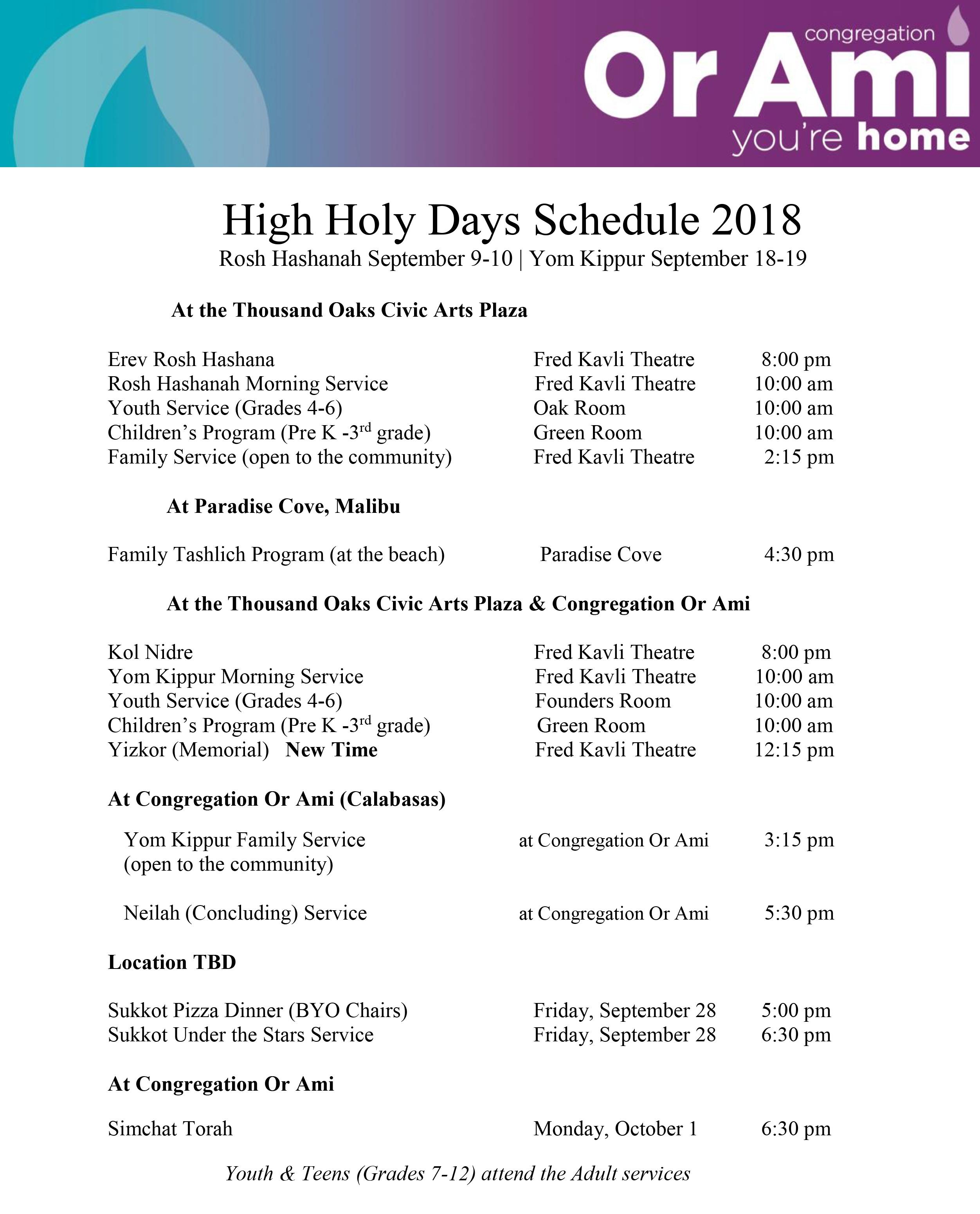 high holidays schedule or ami calabasas high holy days thumbnail v2