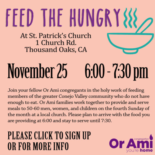 Feed the Hungry 11 25