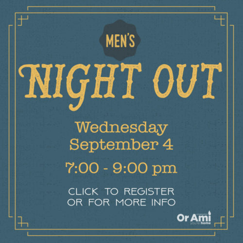 men's night out 9-4 for CC