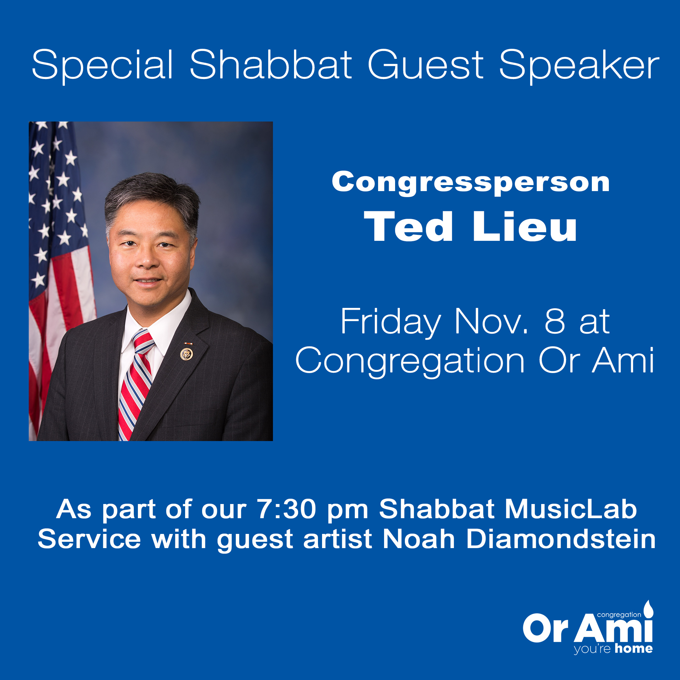 Ted Lieu Shabbat Speaker for website