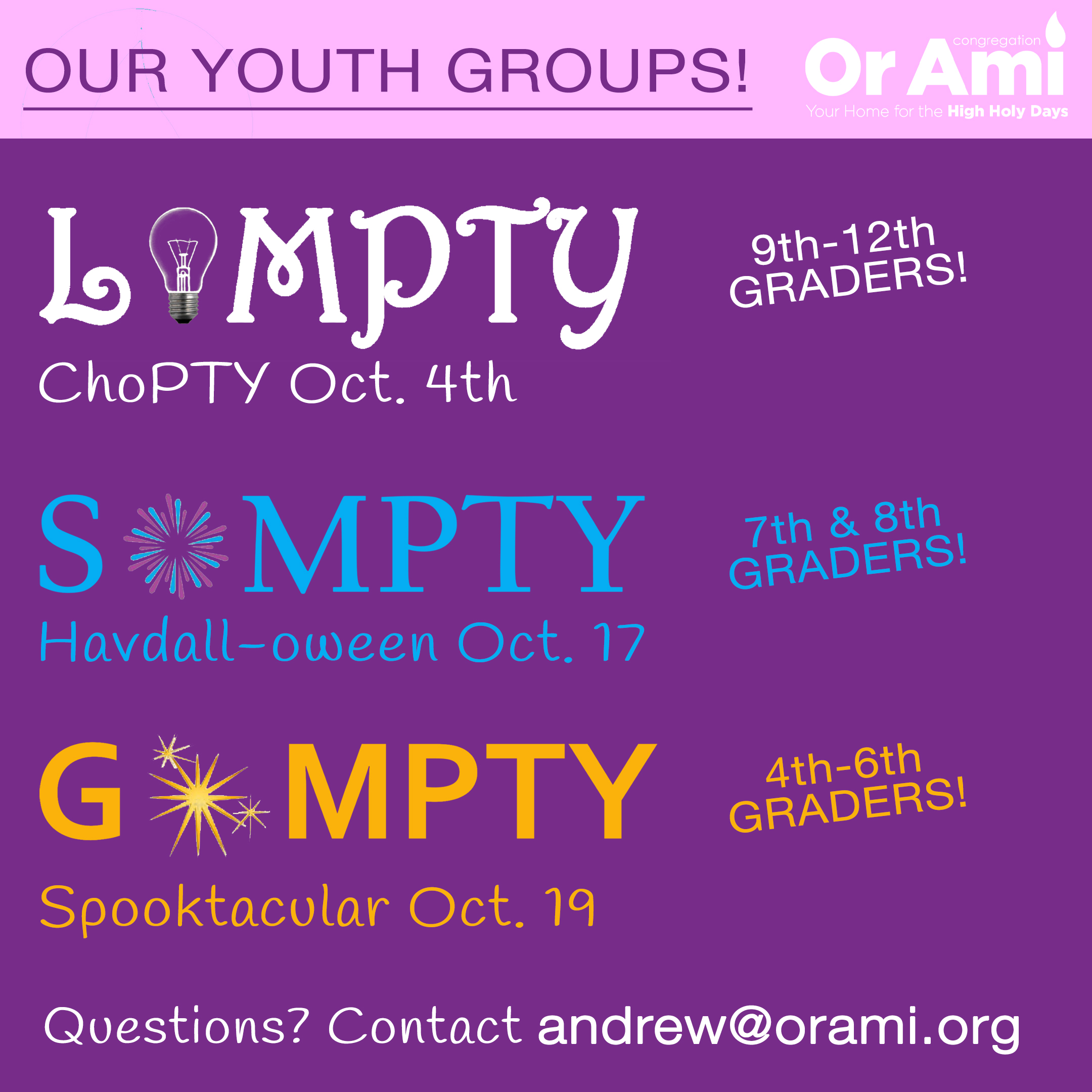 Youth Group upcomings v2
