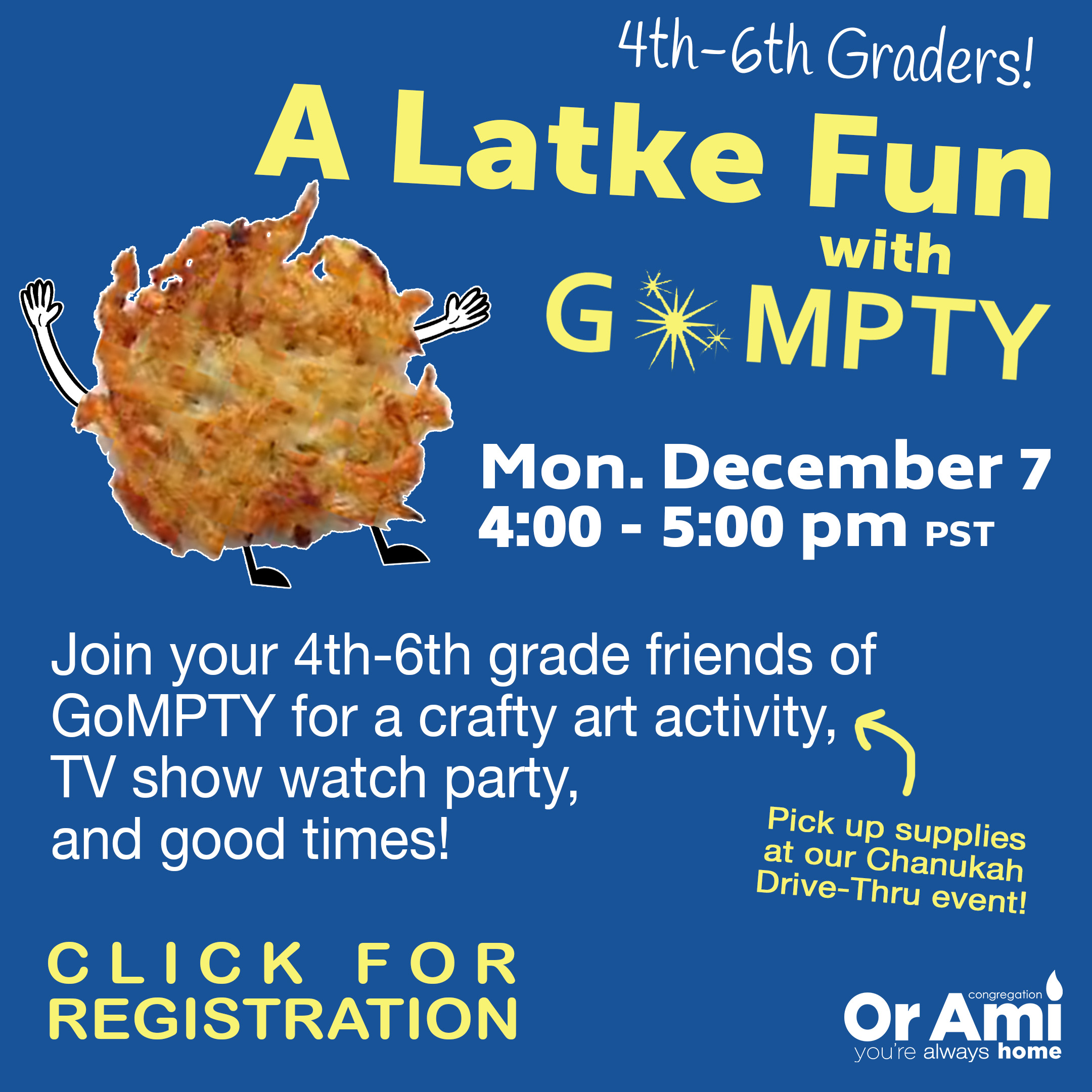 a latke fun with gompty with CLICK