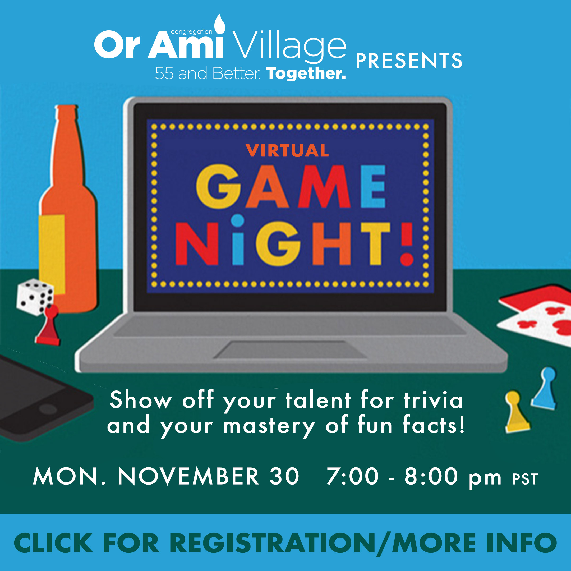 game night with village WITH CLICK