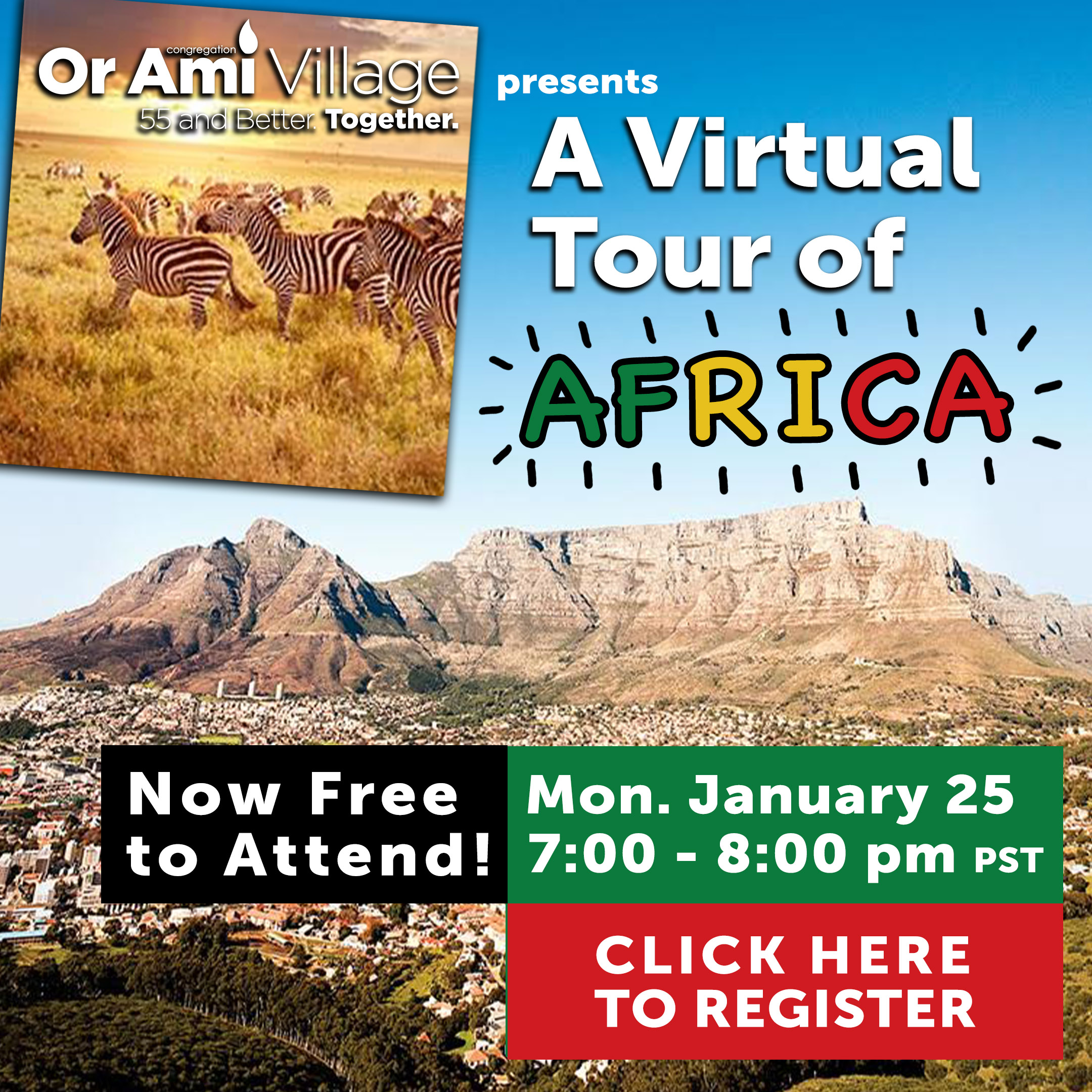 virtual tour of africa with CLICK v2
