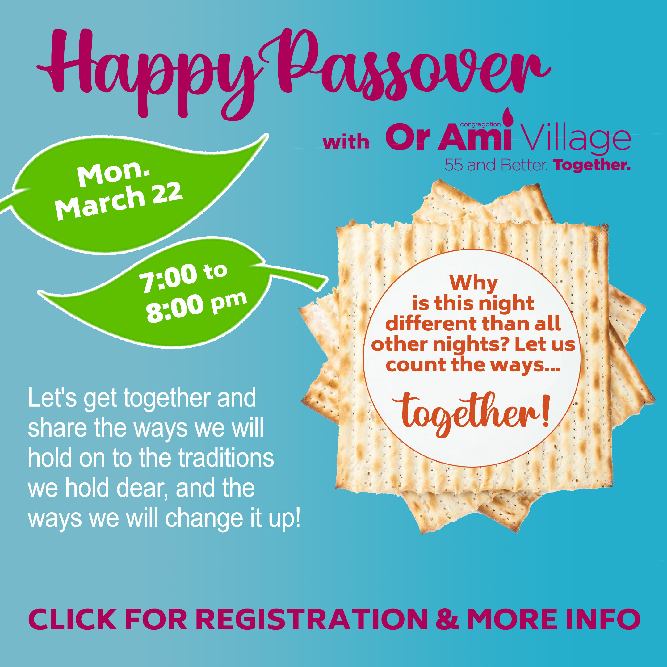 happy passover with or ami village with CLICK