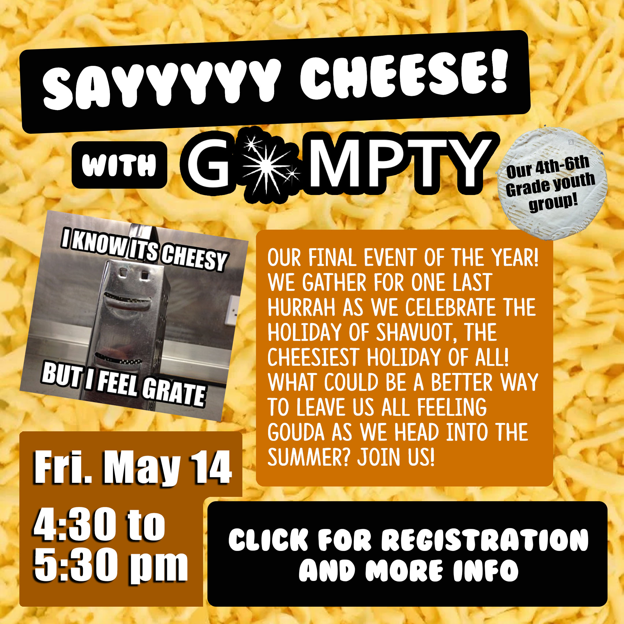 say cheese with GoMPTY with CLICK