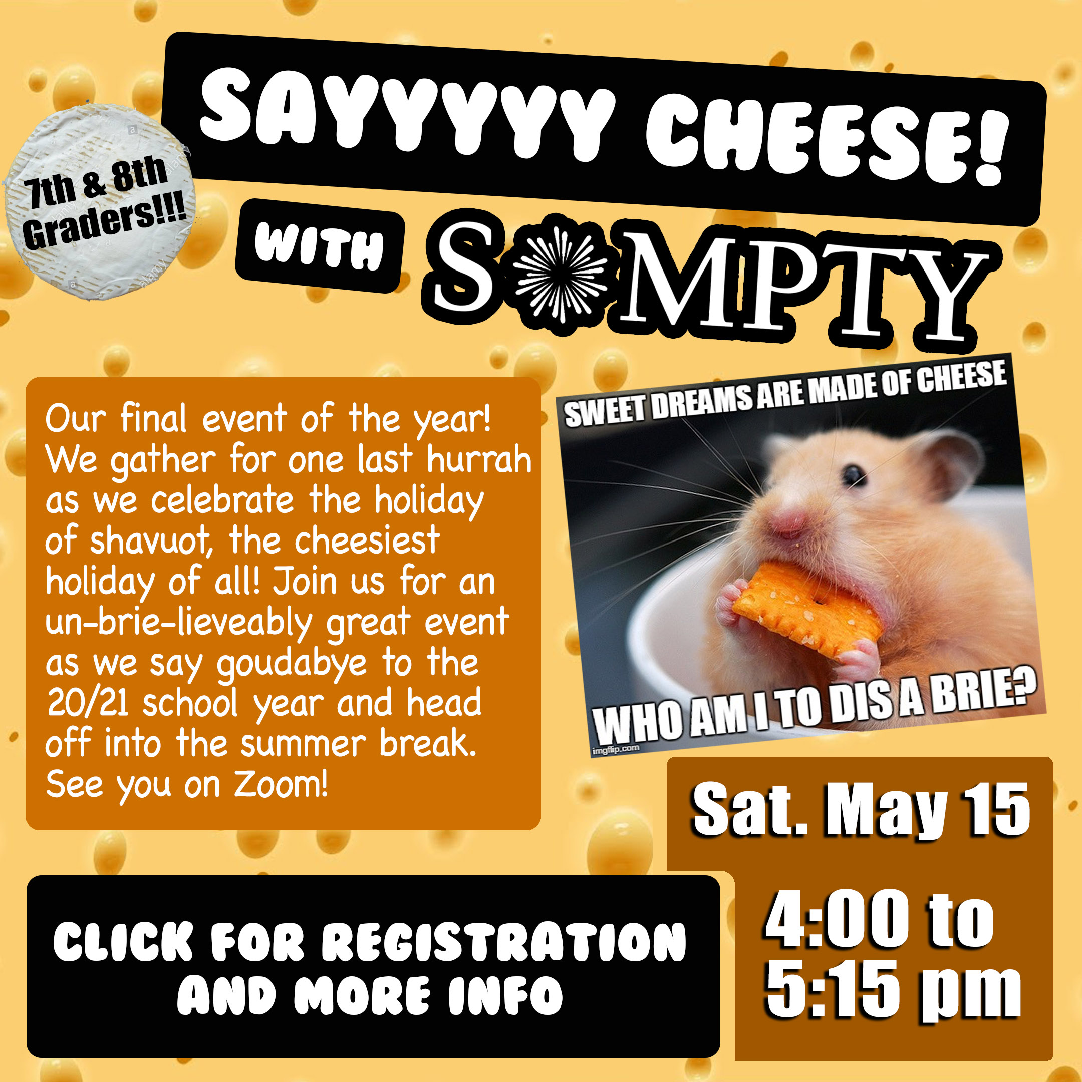 say cheese with SoMPTY with CLICK v2