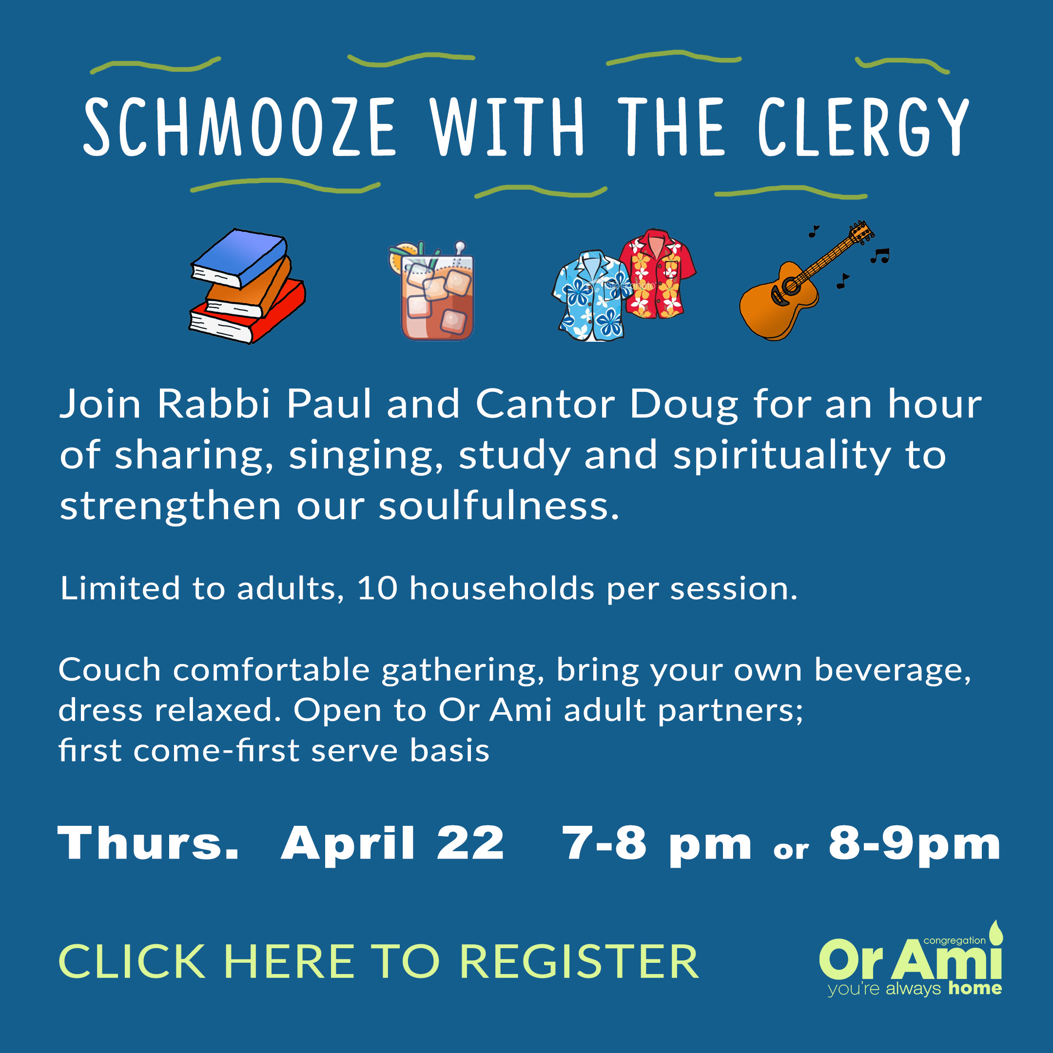 schmooze with the clergy April with CLICK