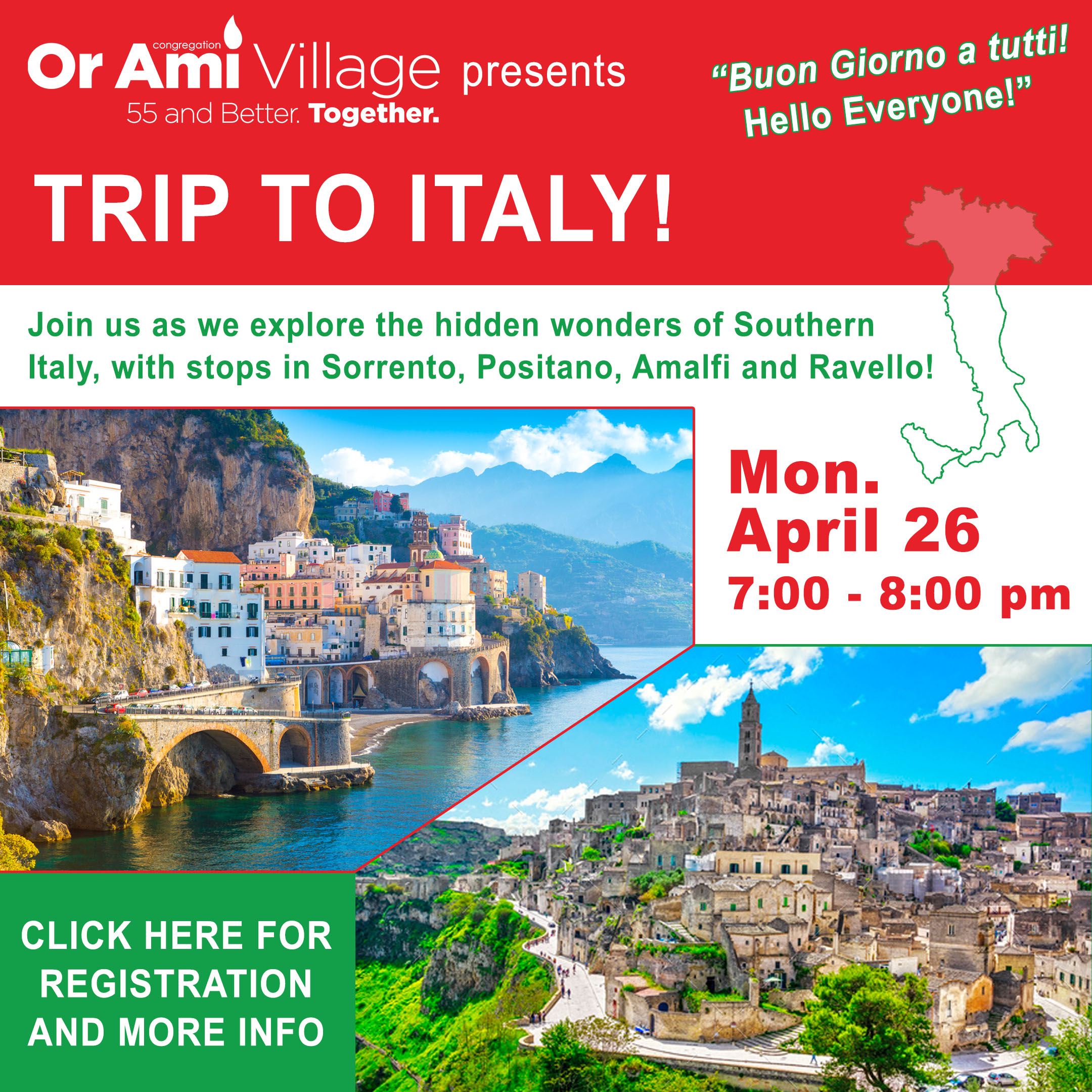 trip to italy with CLICK