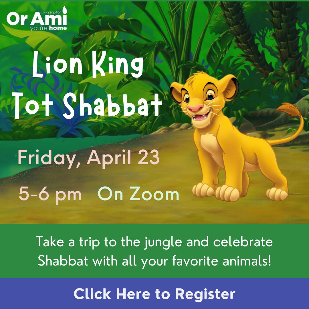 Lion King Tot Shabbat Click Here