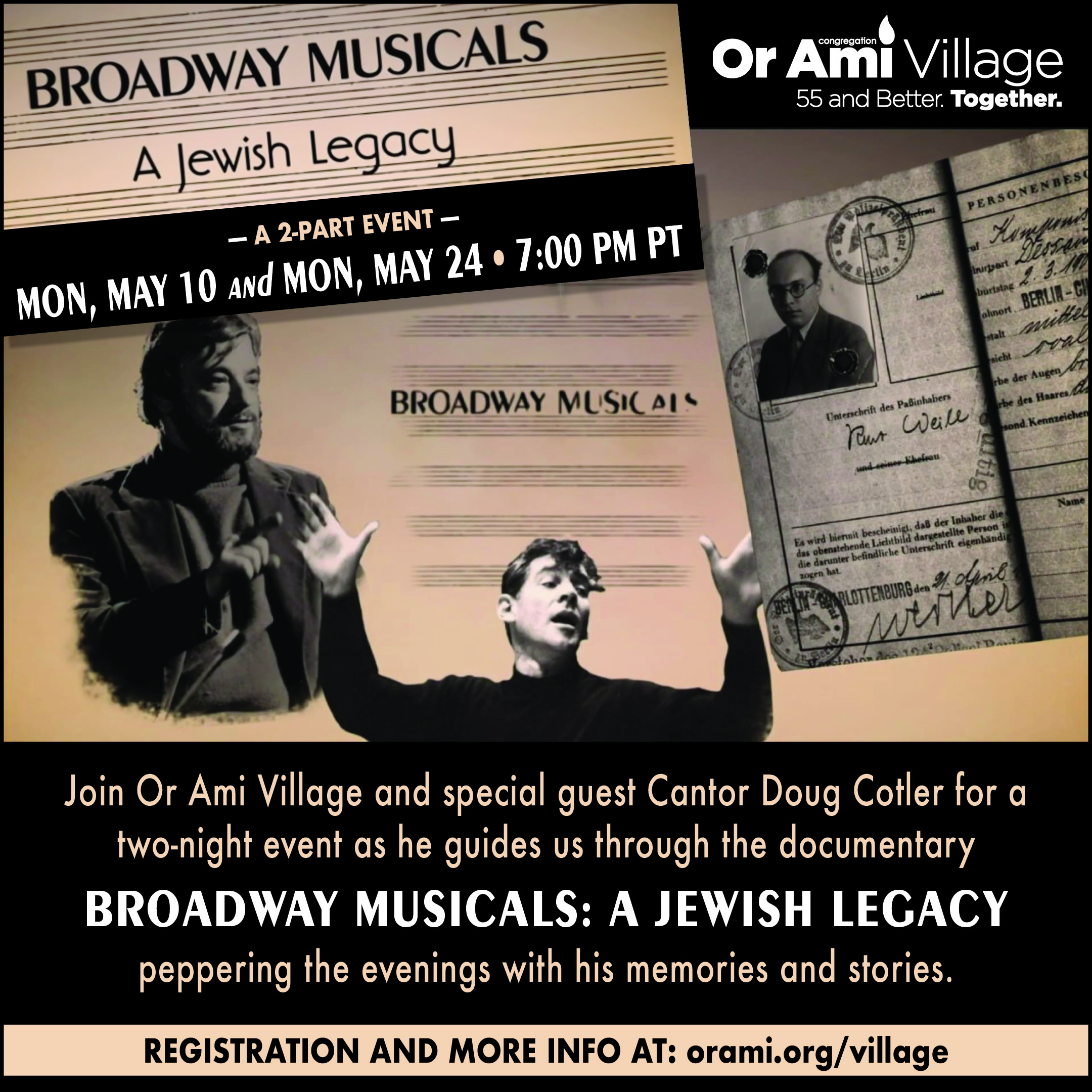 Or Ami Legacy of Jews on Broadway 2021
