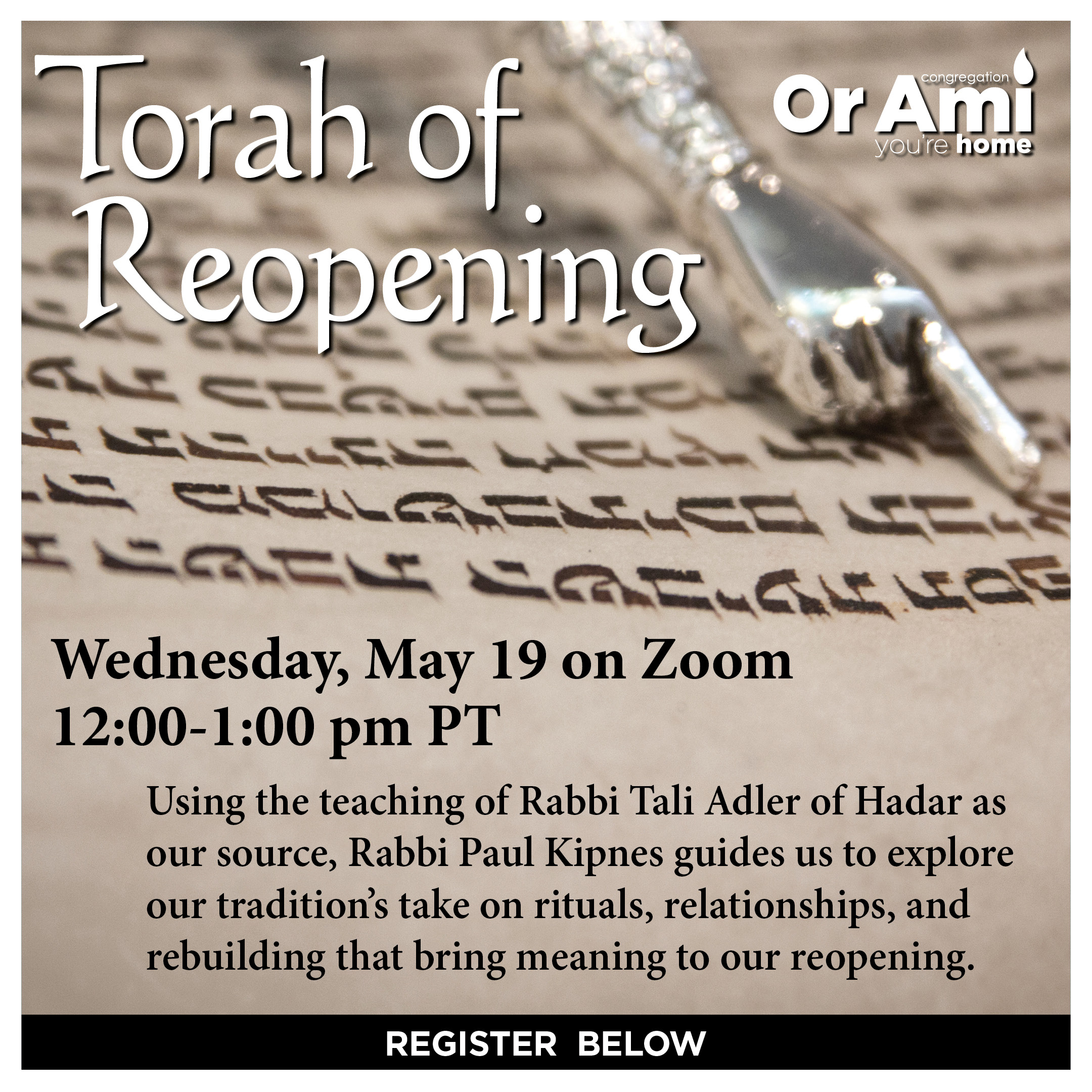 Or Ami Torah of Reopening SC 2021