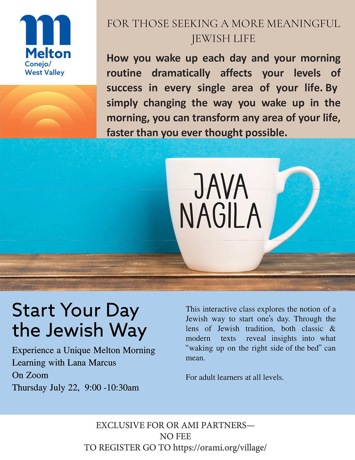 Start Your Day the Jewish Way
