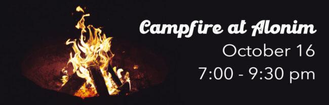 campfire at alonim
