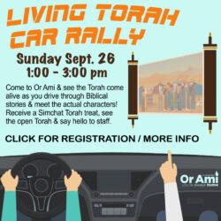 living torah car rally 2021 with CLICK