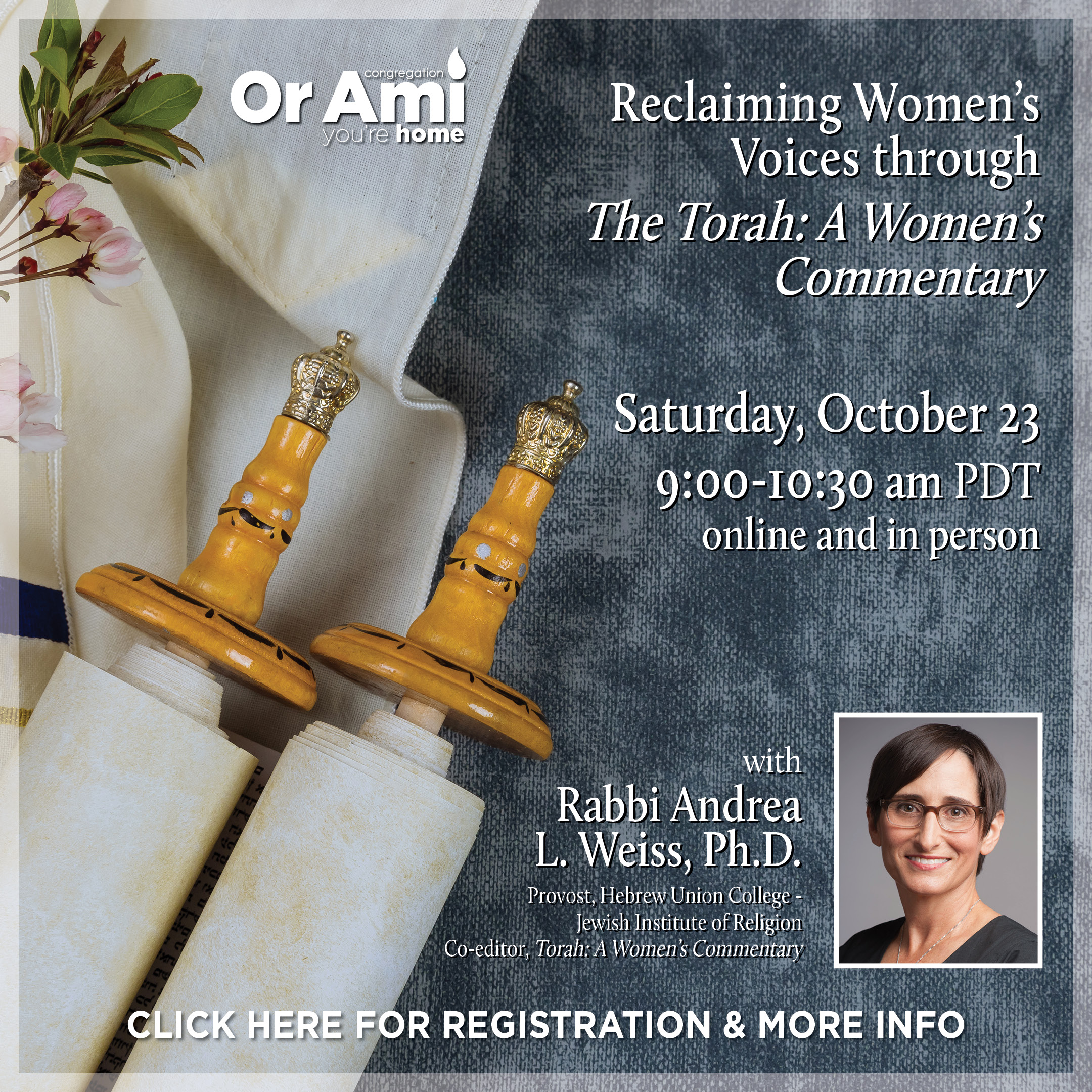 Women's Torah Commentary lecture CLICK