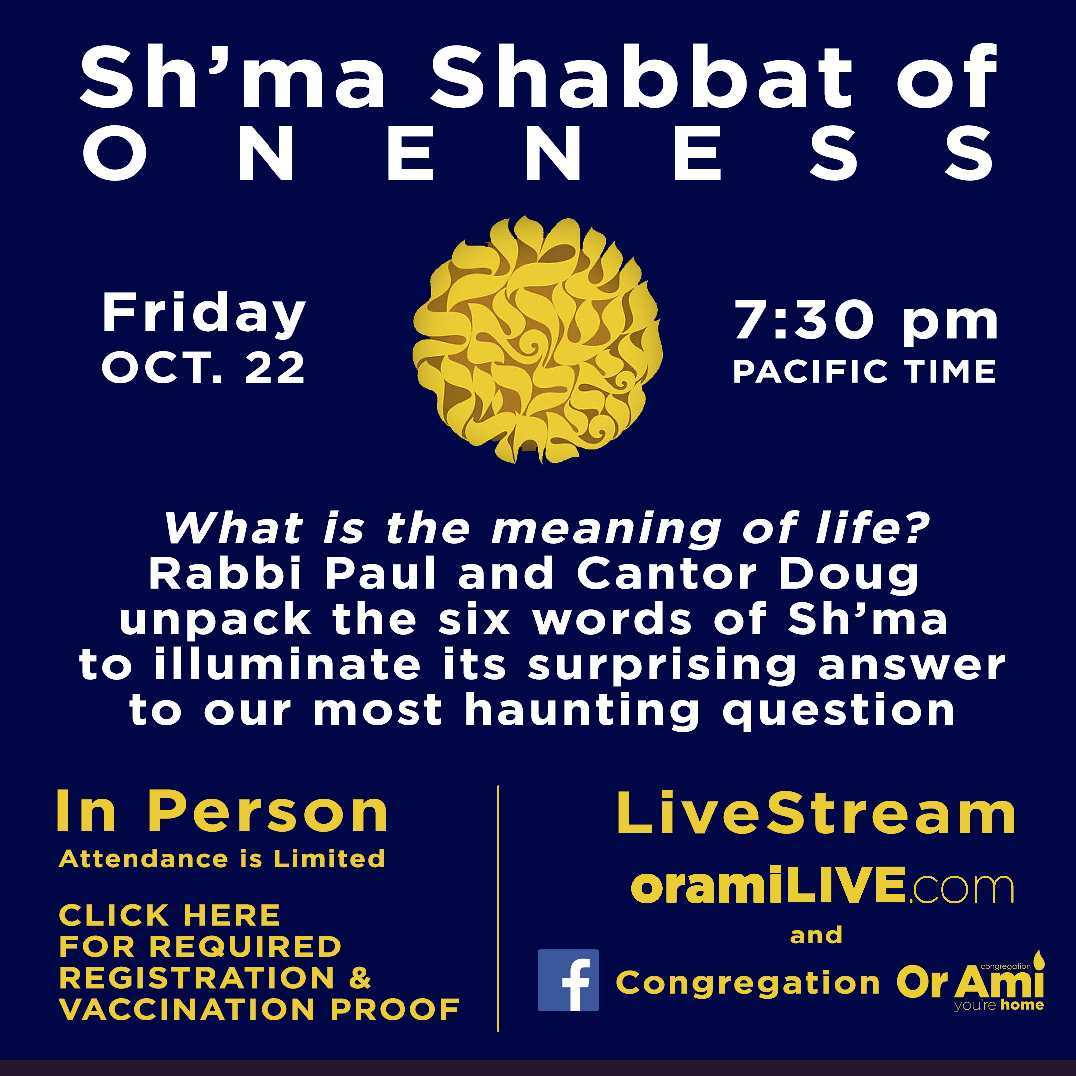 shma shabbat 10-22 with Click